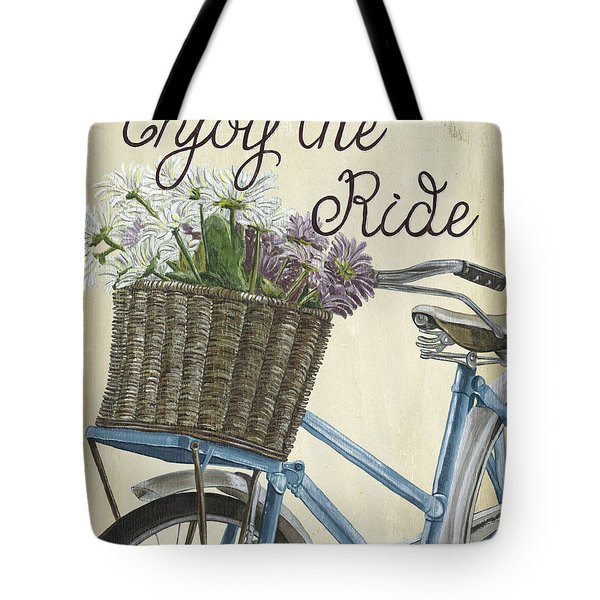 Enjoy The Ride Vintage Tote Bag