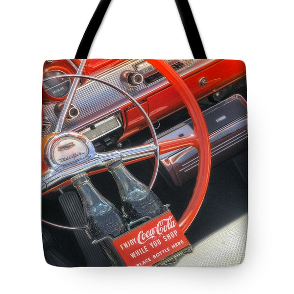Tote Bag featuring the photograph Enjoy While You Shop by Michael Hope