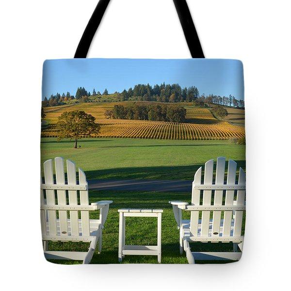 Enjoying Oregon Wine Country Tote Bag