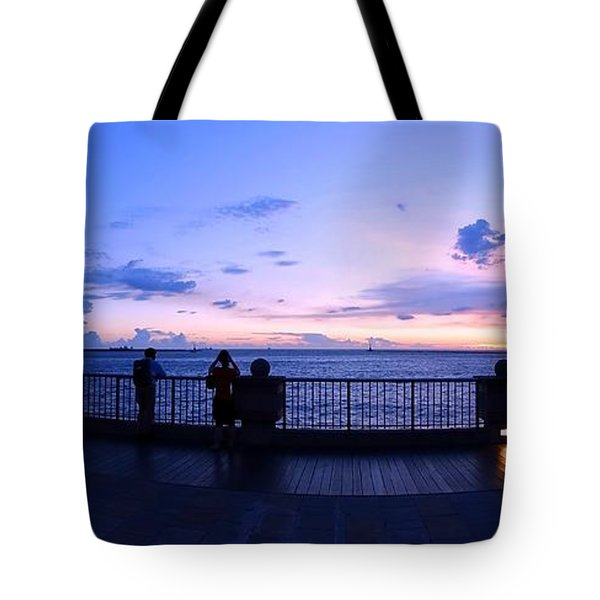 Enjoying The Beautiful Evening Sky Tote Bag by Yali Shi