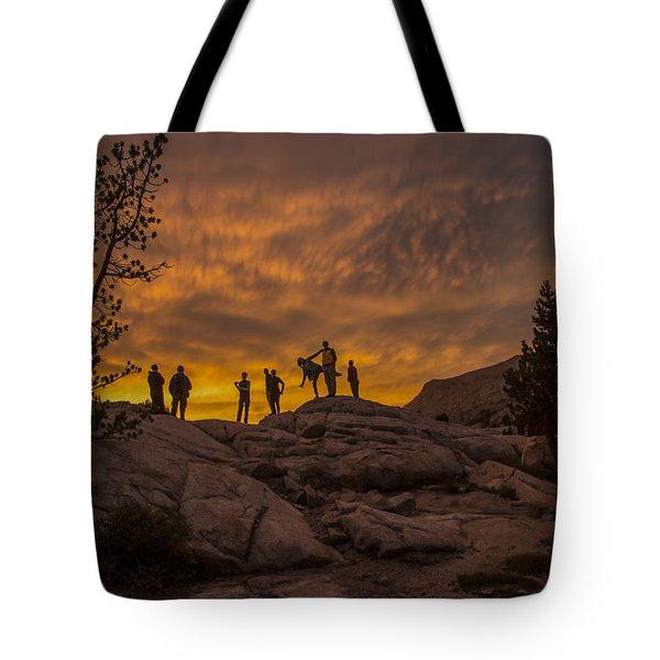 Enjoying The Sunset Tote Bag