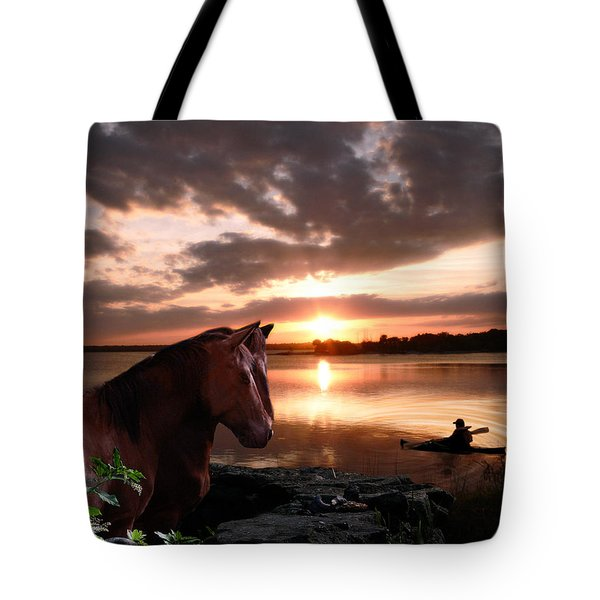 Enjoying The Sunset Tote Bag
