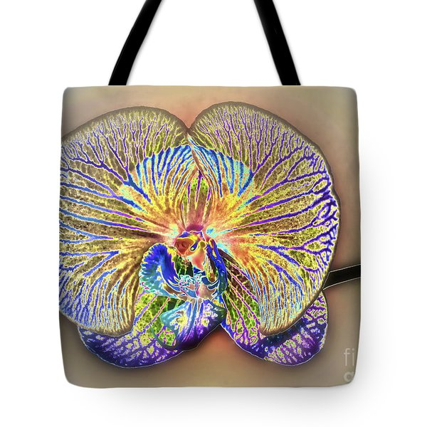 Enlightened Orchid Tote Bag by Gwyn Newcombe