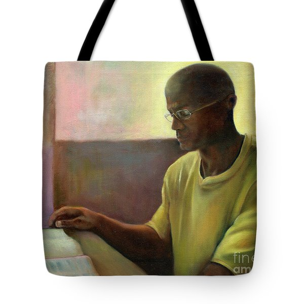 Tote Bag featuring the painting Enlightenment by Marlene Book