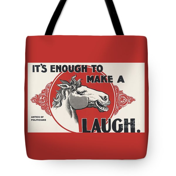 Tote Bag featuring the painting Enough Is Enough by Pg Reproductions
