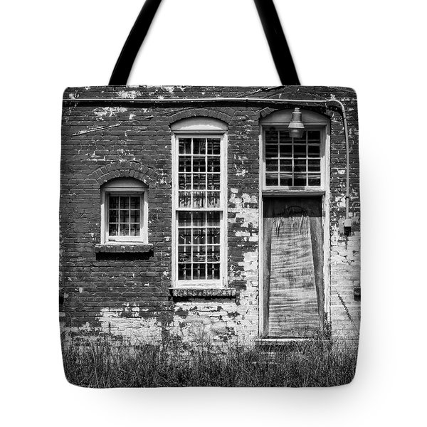 Tote Bag featuring the photograph Enough Windows - Bw by Christopher Holmes