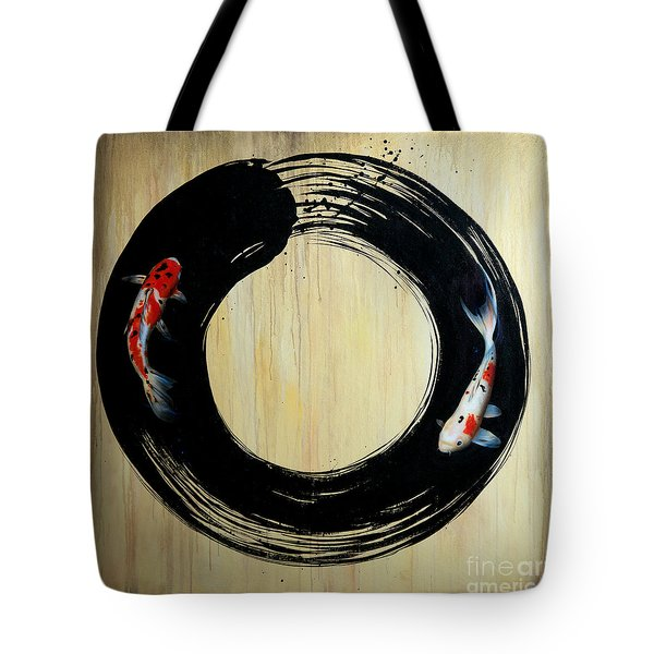 Enso With Koi Tote Bag