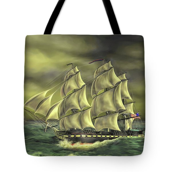 Tote Bag featuring the painting Ensuring Liberty by Dave Luebbert