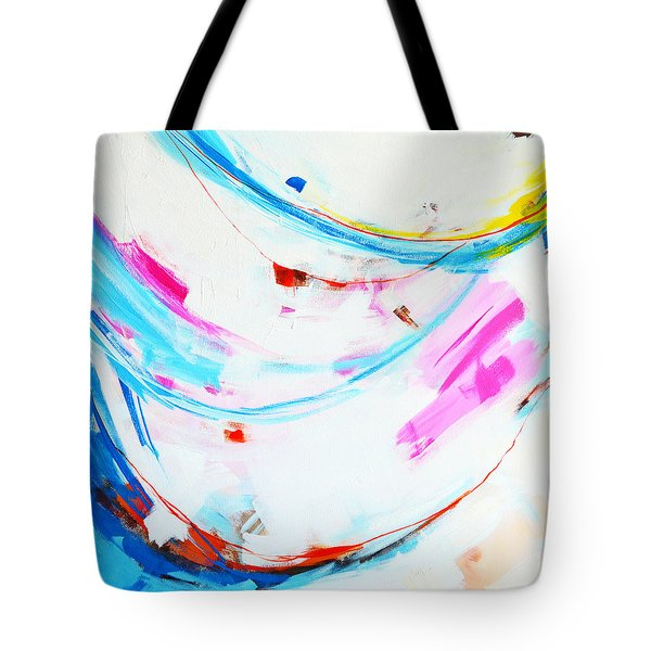 Entangled No. 8 - Left Side - Abstract Painting Tote Bag