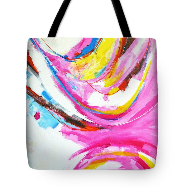 Entangled No. 8 - Right Side - Abstract Painting Tote Bag
