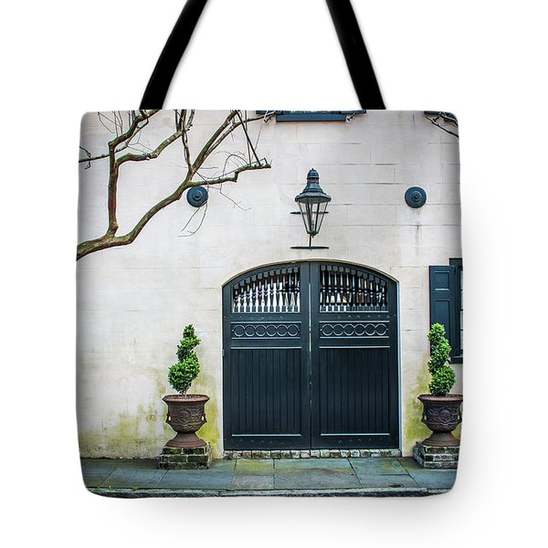 Enter Here Tote Bag