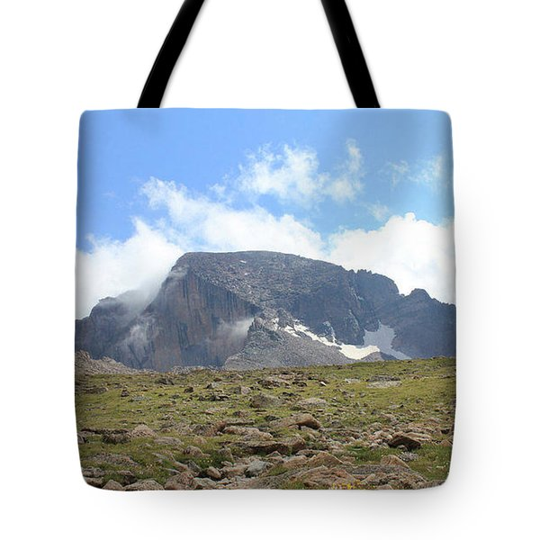 Entering The Boulder Field Tote Bag by Christin Brodie