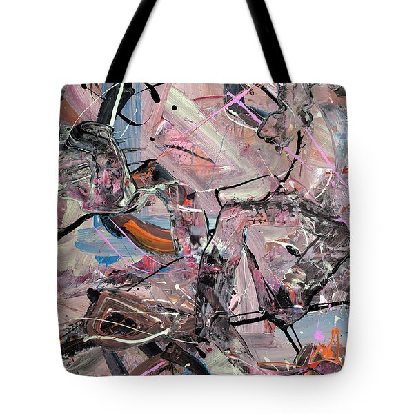 Entering The Flying Mode Abstract Tote Bag by Erika Pochybova