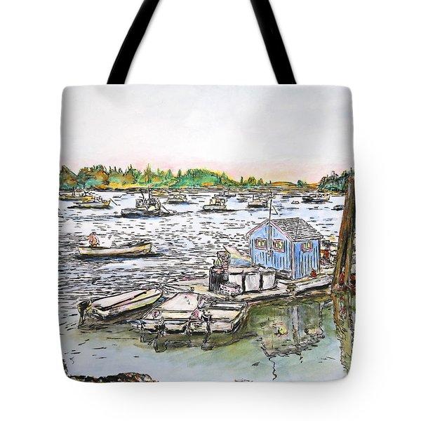 Entering Vinal Haven, Maine Tote Bag