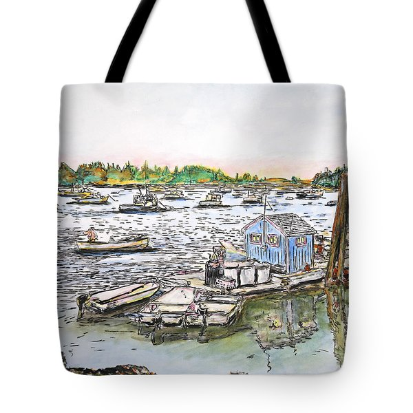 Entering Vinal Haven, Maine Tote Bag
