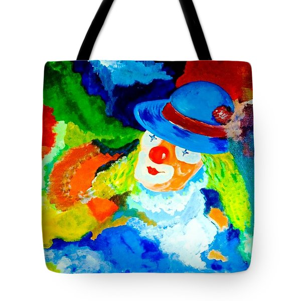 Tote Bag featuring the painting Entertainer by Piety Dsilva