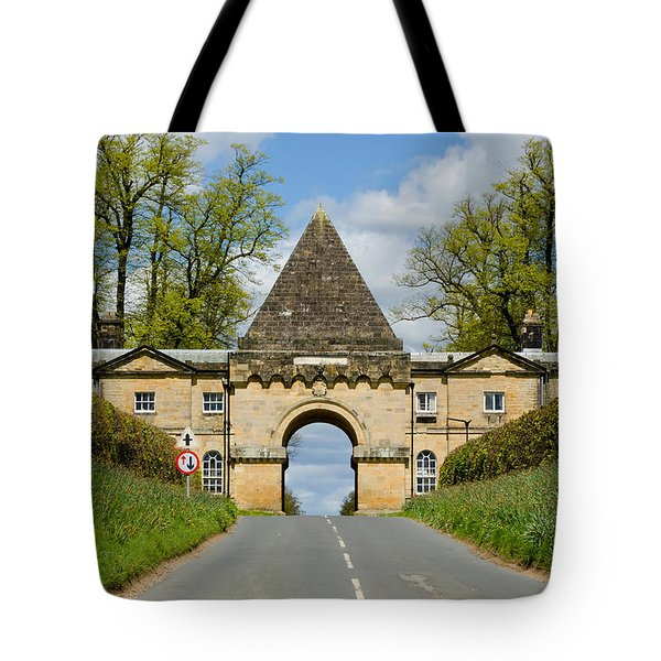 Entrance To Burghley House Tote Bag