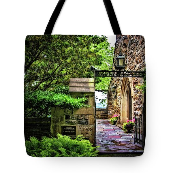 Entrance To Garrett Chapel Tote Bag