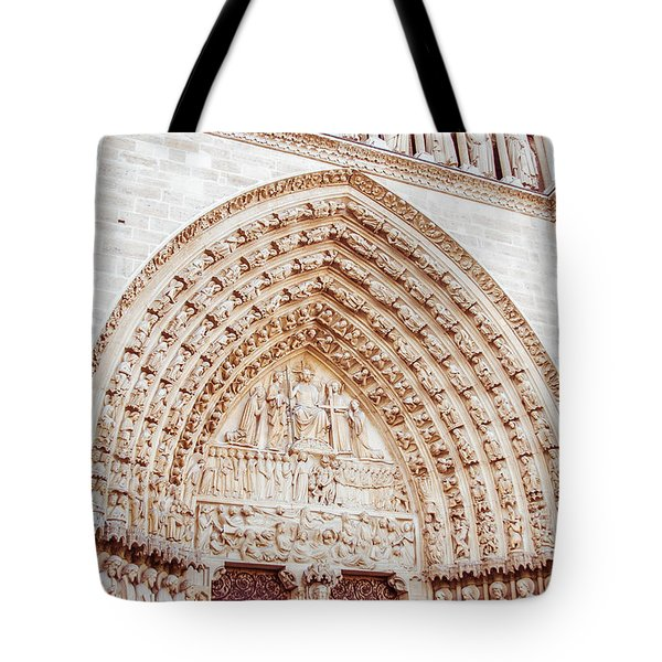 Entrance To Notre Dame Cathedral Tote Bag