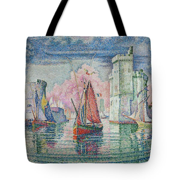 Entrance To The Harbour Of La Rochelle Tote Bag
