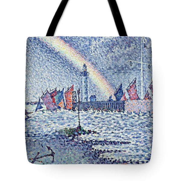 Entrance To The Port Of Honfleur Tote Bag by Paul Signac