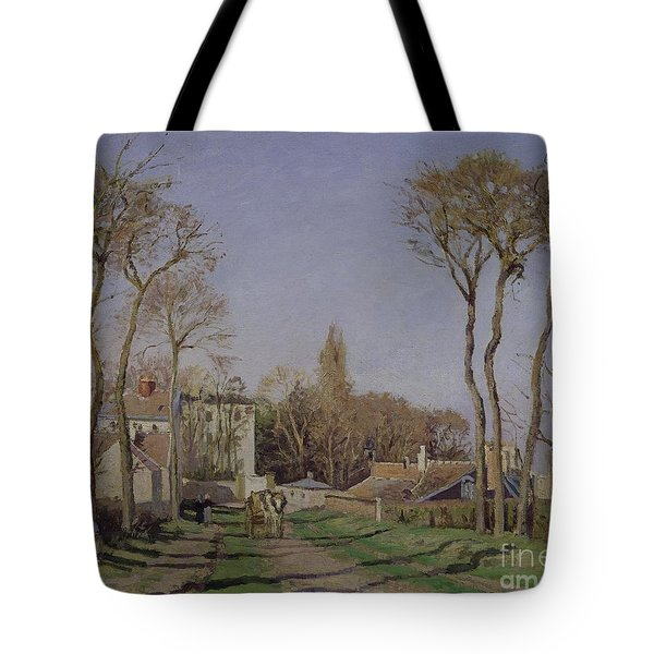 Entrance To The Village Of Voisins Tote Bag by Camille Pissarro