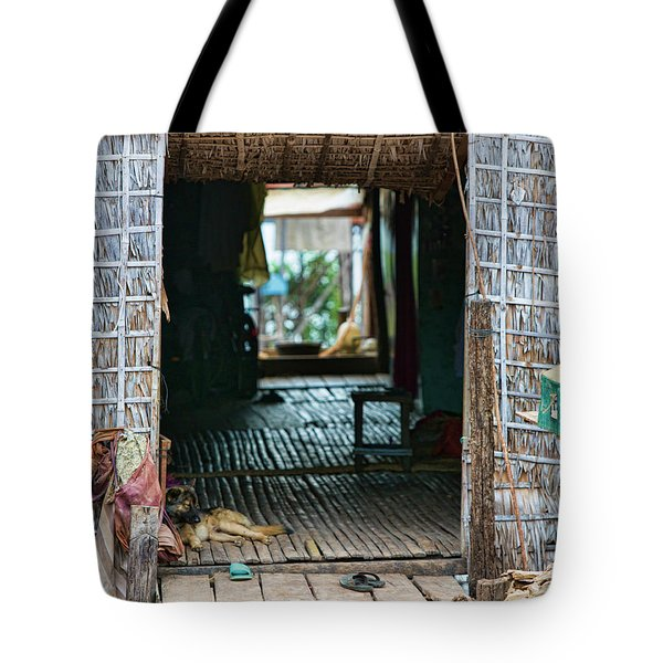 Entrance To Tonle Sap Home  Tote Bag