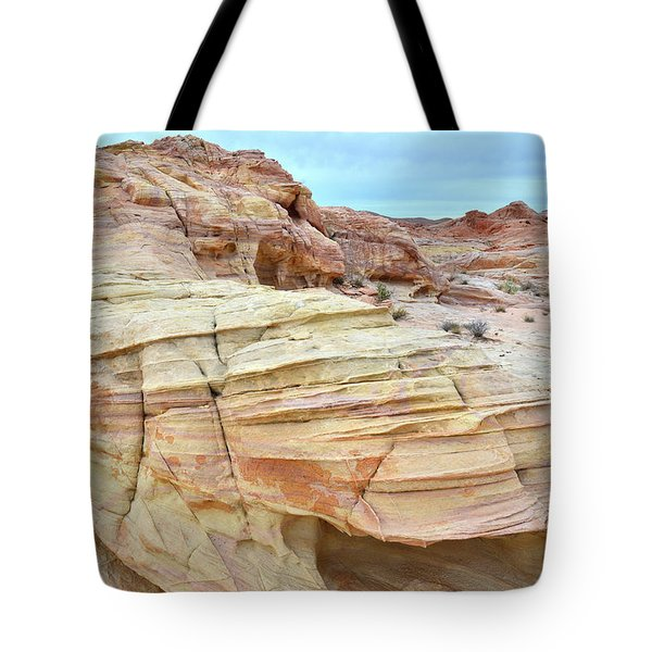 Tote Bag featuring the photograph Entrance To Wash 3 In Valley Of Fire by Ray Mathis