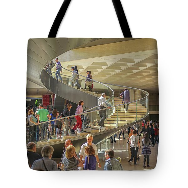 Entry Hall In The Louvre Museum Tote Bag