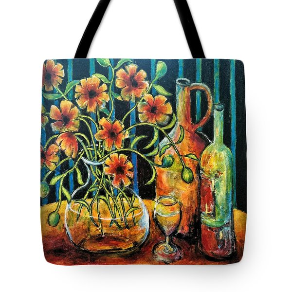 Entwining Poppies Tote Bag