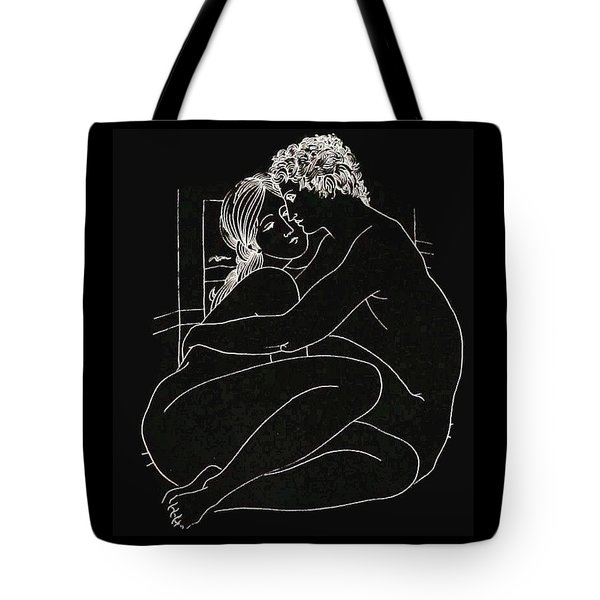 Tote Bag featuring the digital art Enveloped by Kim Kent