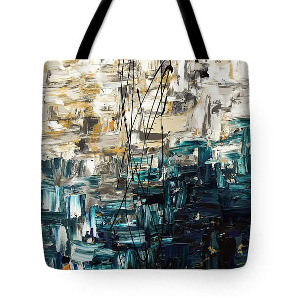 Tote Bag featuring the painting Envisioning by Carmen Guedez