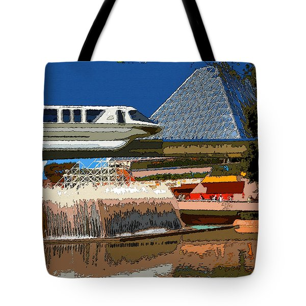 Epcot Scenic Tote Bag by David Lee Thompson