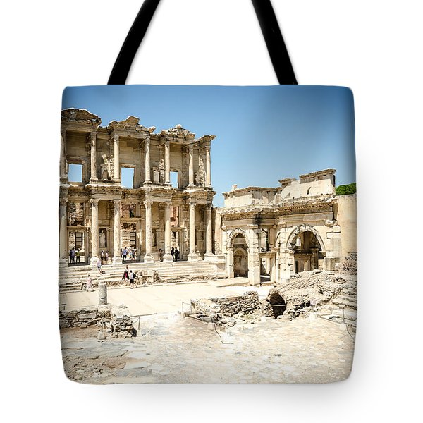 Ephesus Library On Sunny Day Tote Bag