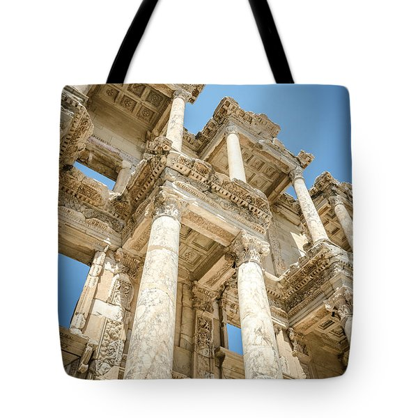 Ephesus Library Up Close Tote Bag