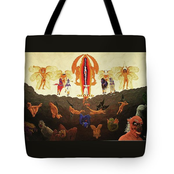 Tote Bag featuring the painting Epic - In The Valley Of Megiddo by Rand Swift