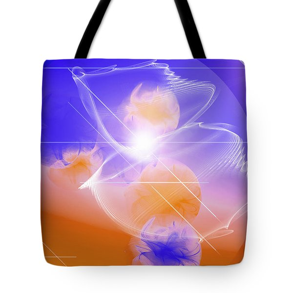 Tote Bag featuring the digital art Epiphany by Ute Posegga-Rudel