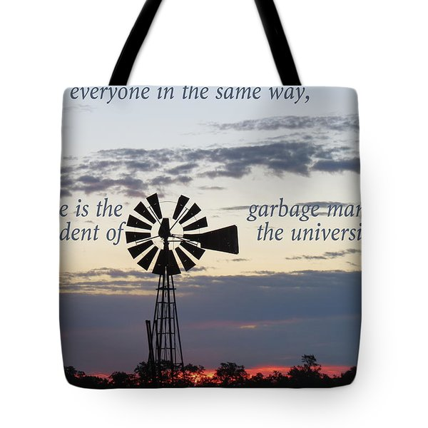 Equal In God's Eye Tote Bag by David Norman