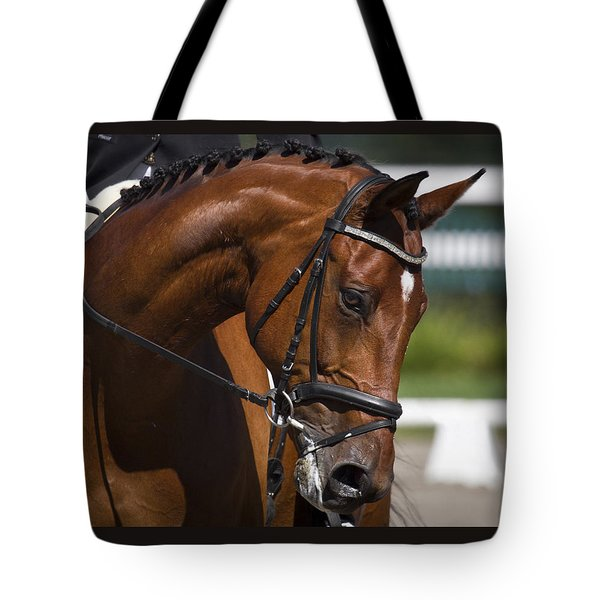 Tote Bag featuring the photograph Equestrian At Work D4913 by Wes and Dotty Weber