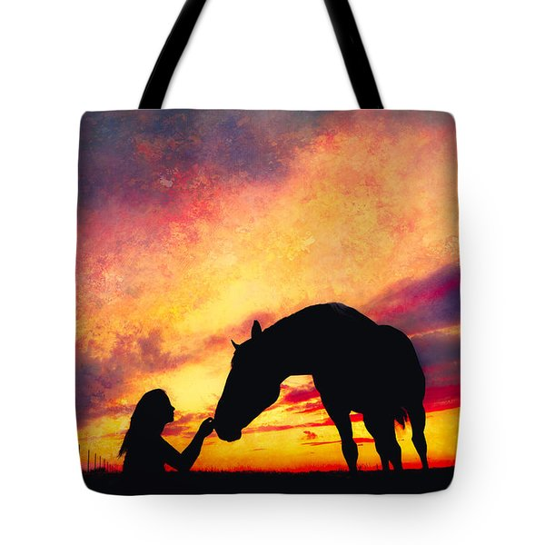 Equine Sunset Tote Bag by Debi Bishop