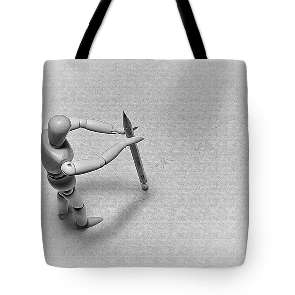 Tote Bag featuring the photograph Erasing His Tracks by Mark Fuller