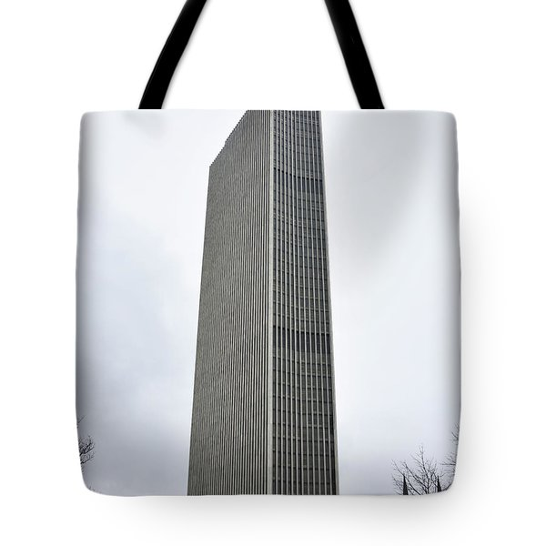 Tote Bag featuring the photograph Erastus Corning Tower In Albany New York by Brendan Reals