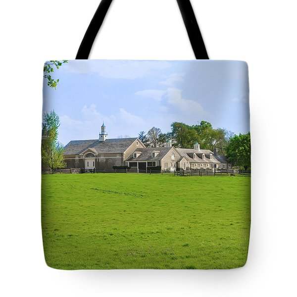 Tote Bag featuring the photograph Erdenheim Farm - Whitemarsh Montgomery County Pa by Bill Cannon