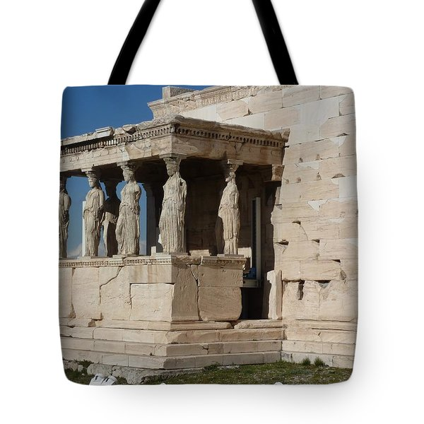 Erechteion With Nike Temple Tote Bag