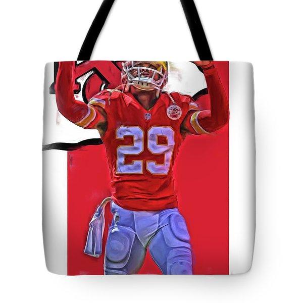 Eric Berry Kansas City Chiefs Oil Art Tote Bag