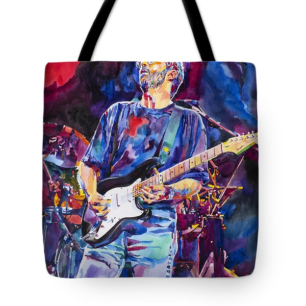 Eric Clapton And Blackie Tote Bag by David Lloyd Glover