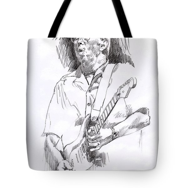 Eric Clapton Blue Tote Bag by David Lloyd Glover