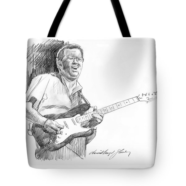 Eric Clapton Jam Tote Bag by David Lloyd Glover