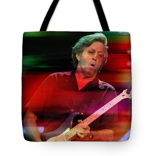 Eric Clapton Tote Bag by Marvin Blaine