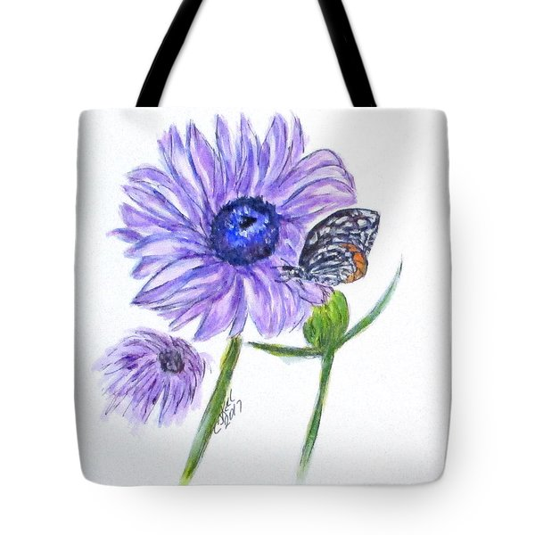 Erika's Butterfly Three Tote Bag